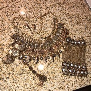 Jewelry - Boho Gypsy Warrior Rhinestone Statement Necklace